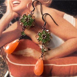 Vintage Crystal Bead Earrings